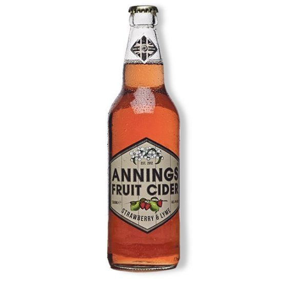 Annings Strawberry and Lyme Cider 4% 500ml