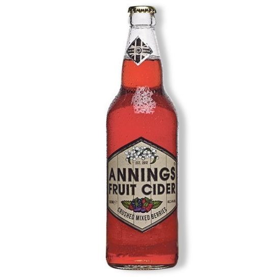Annings Mixed Berries Cider 4% 500ml