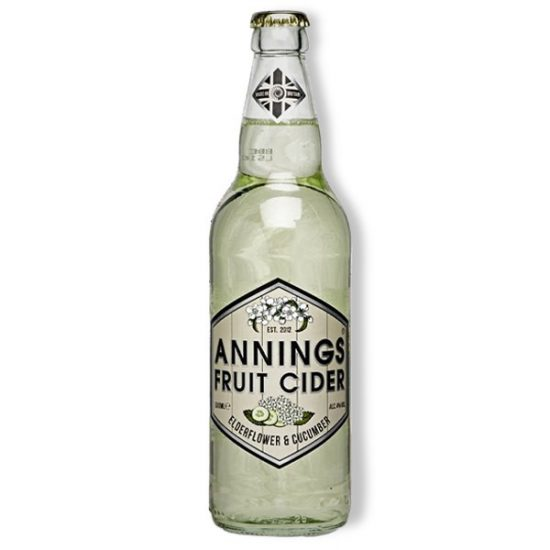 Annings Elderflower and Cucumber Cider 4% 500ml