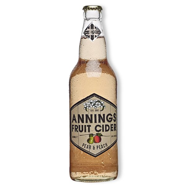 Annings Pear and Peach Cider 4% 500ml
