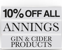 Annings Gin and Cider Promotion