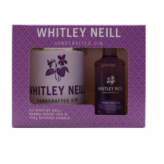 Whitley Neill Parma Violet Gin and Candle Gift Pack
