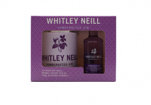 whitley neil parma violet gin and candle gift pack